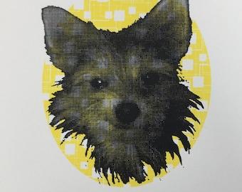Arthur in Yellow - original screenprint