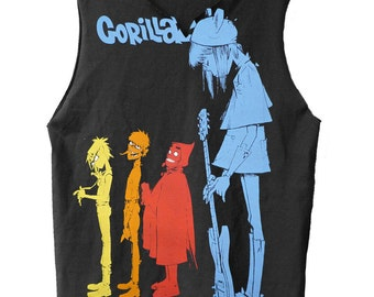 Rock The House - Gorillaz muscle shirt