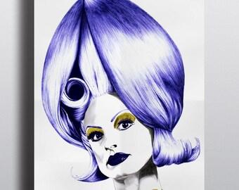 Poster Mars attacks, Tim burton, Illustration, Art, Poster, biro, reproduction, art et collection, portrait, realisme, icone