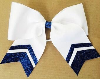 Glitter Chevron Cheer Bow