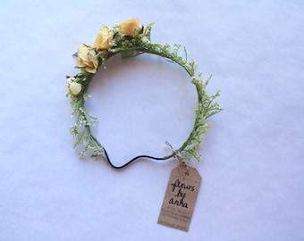 Silk Flower Crown - Peachy Rose