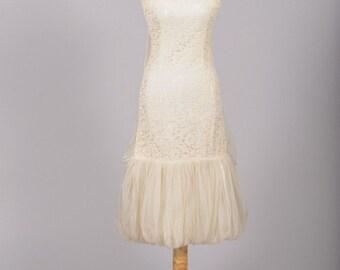 1960 Bubble Vintage Wedding Dress