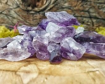 Raw Amethyst Crystal Quartz  4oz. Lot -  341