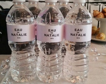 Chic Customized Water Bottle Labels