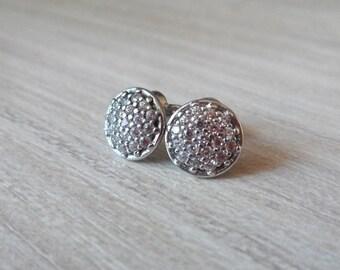 Silver stud earrings studs Cosmos