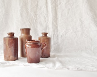 Antique Sienna Stoneware bottle (pictured second from left)