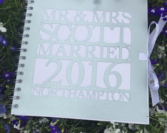 Personalised wedding / party guest book / Photo Booth album