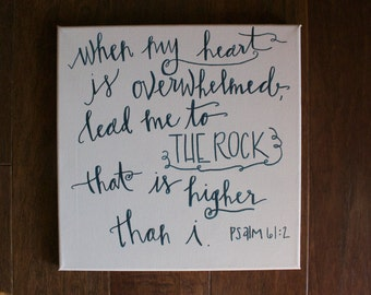 psalm 61 canvas