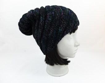 Black wool hat, Knit Hat Womens Hat, Womens Accessories Winter Hat