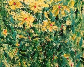 Yellow Daisies Original Painting