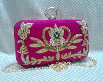 Fabulous  Handmade Embroidered Clutch