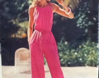 Vintage Jumpsuit Sewing Pattern Butterick 5818