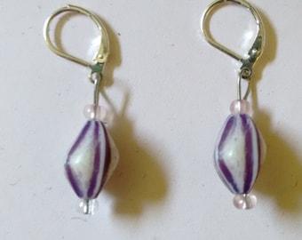 funky purple earrings