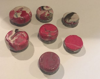 Marble Clay Magnet Set (7)