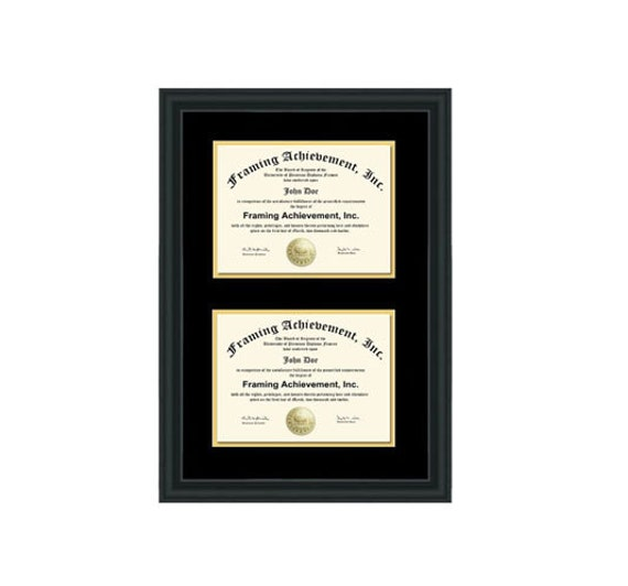 Double Diploma Frame Dual Certificate Frames Two Document
