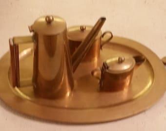 Vintage Gold Teapot Set