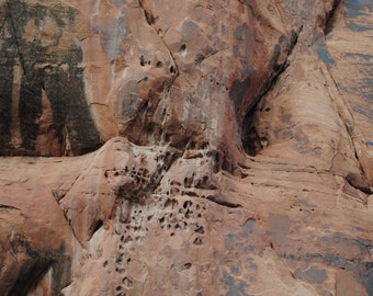 Lake Powell, Arizona/Textured Cliff/Nature and Landscape Photography