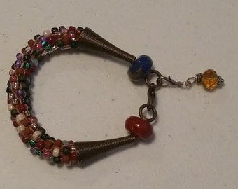Multicolored Crocheted Bracelet