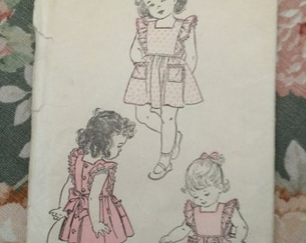 Vintage Sewing Pattern Advance 3410 Child Dress Sz 3/Br 22