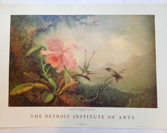 Martin Johnson Heade at the Detroit Institute of Arts Offset Lithograph by Avon Printing Company (1988)