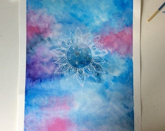 Watercolor Mandala ORIGINAL