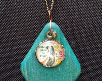 Nothing Takes Its Place Collage Pendant Necklace