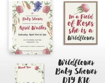 Wildflower Baby Shower Kit