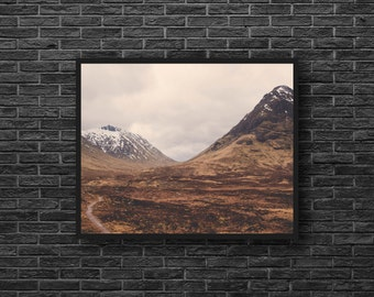 Mountain Landscape Photo - Brown Wall Decor - Mountain Photography - Brown - Nature Photography - Mountain Wall Art - Nature Wall Decor