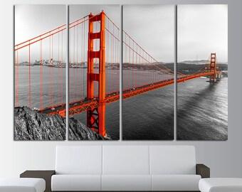 Golden Gate Print Golden Gate Art Golden Gate Canvas Golden Gate Poster Golden Gate Wall Art Golden Gate Bridge San Francisco City Wall Art