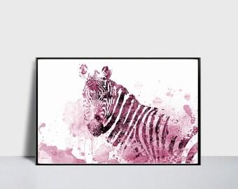 Zebra Print Wall Decor zebra wall decor | etsy