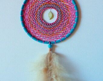 boho maribou cotton candy dreamcatcher
