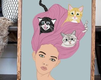 Cat Lady Print