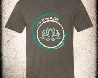 Om Way of Life - Short Sleeve T-Shirt Asphalt