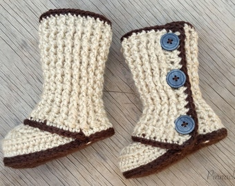 Crochet Baby Booties Pattern #2 Photo Prop
