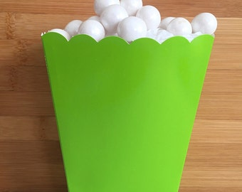 Lime Green Popcorn Boxes (5)