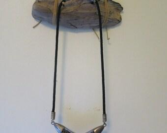 Metal fringe necklace