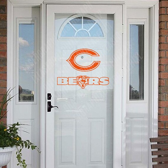 chicago bears home decor decal decorating kit by lasergraphix