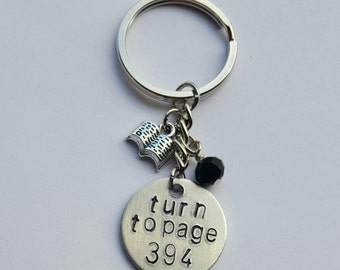 Harry Potter Turn To Page 394 Keychain