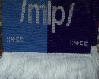 Flawed(!) scarf 'Giddy Up!' - Original 2013 Design