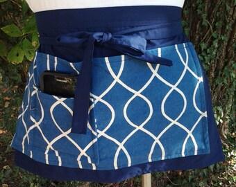 On Sale Vendor apron Teacher Apron  half apron with pocket adjustable waist strap