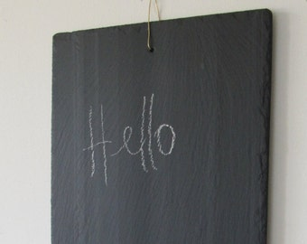 Reminder in natural slate, attach brass and Tin