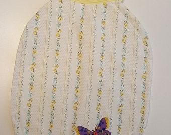 Large Floral Butterfly Bib