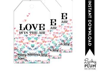 Balloon Valentine Printable / Pop Valentine Printable / Valentine Printable / Love is in the Air Valentine Printable / Goldfish Valentine