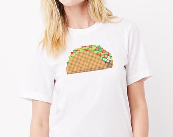 8-Bite Taco: Adults Unisex Soft Blend T-Shirt