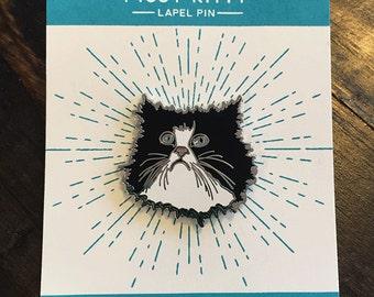 Pissy Kitty Enamel Pin- Cloisonne Enamel Pin