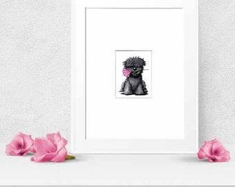 Original Dog Art Bouvier Des Flandres Dog ACEO
