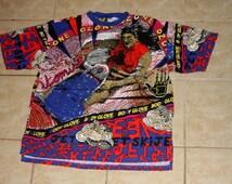 Body Glove Jet Ski All Over Print Large T-shirt Vintage 1988
