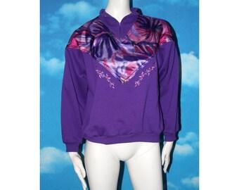 Lady Foot Locker Floral Purple Medium Vintage 1990s