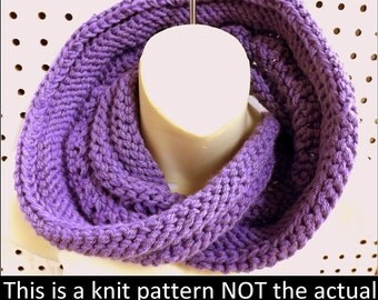 Knit Pattern,  Knitting Pattern, Infinity Scarf, Knit Cowl Pattern, Knit Scarf Pattern, COIL