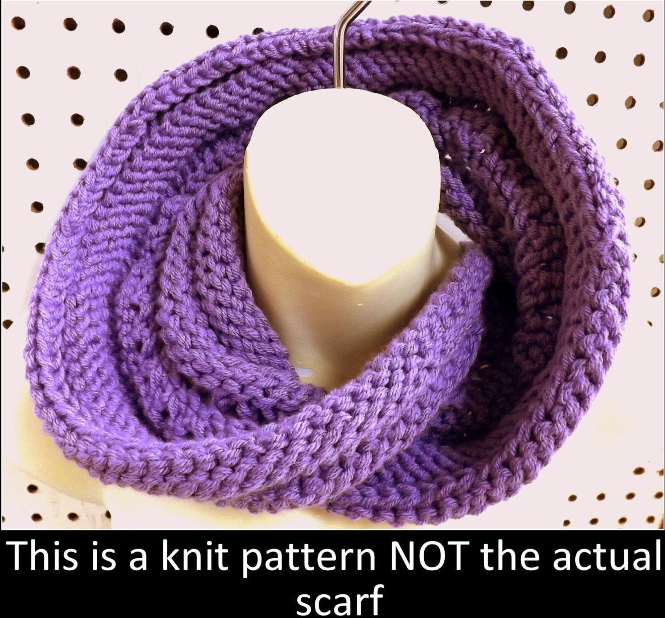 Knit Infinity Scarf Pattern Knit Pattern Knit Cowl
